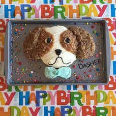 Dasher the Cav Birthday cake! @DashertheCav Cavalier King Charles Spaniel Puppy. Birthday's are kind of a big deal around here so we are having a party! 🐶🎂🎉🎁🎈🍖🐶 #Birthday #birthdaycake #cake #cakedecorating #puppycake #firstbirthday #dasherthecavcake #cavalierkingcharlesspaniel #ckcs #itsacavthing #cavlife #cute #ilovemycavalier