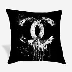 Chanel Art, Coco Chanel, Throw Pillow Covers, Throw Pillows, Logo, Amazon, Artwork, Toss Pillows, Logos