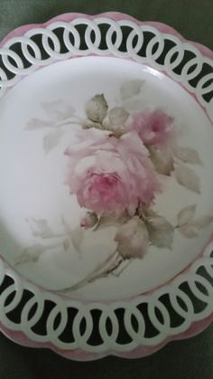 Porcelain Ceramics, China Porcelain, Painted Porcelain, China Painting, Ceramic Painting, Hand Painted Plates, Antique Plates, Antique Paint, China Art