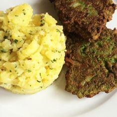 Green pea patties Green Peas, Meatloaf, Vegan Recipes, Good Food, Healthy Eating, Vegetarian, Cooking, Eating Healthy, Kitchen