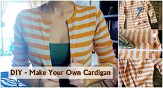 Here we have a simple and fast solution to transform an old shirt into a stylish cardigan. You will need: - an old shirt; - scissors; - hem tape, -