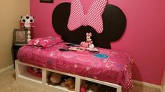 Minnie Mouse Storage Daybed   Do It Yourself Home Projects from Ana White