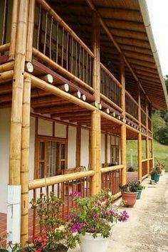 Bamboo house design with natural nuances. Staying in a bamboo house will bring you to the atmosphere of living in nature.