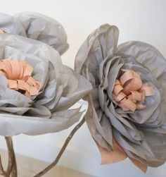 large tissue paper flowers how to make | Grace Designs: My Creative Space - Giant Paper Flower Wedding Bouquets