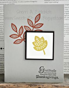Stampin' Up! Day of Gratitude, Clean and Simple (CAS)