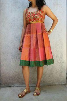 Kalamkari and silk