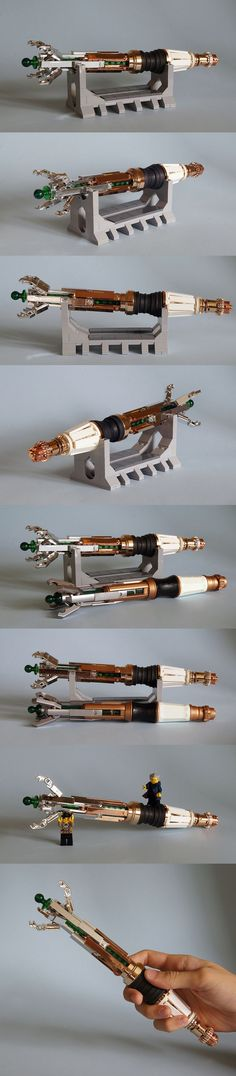 The sonic screwdriver owned by the Eleventh and Twelfth Doctors. Chromed parts by Chrome Block City and Lego Doctor Who, Tenth Doctor, Nerd Merch, Lego Pictures, Sonic Screwdriver, Cool Lego Creations, Lego Projects, Everything Is Awesome, Lego Moc