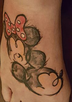My Mickey and Minnie tattoo. Love it! Jaz did a great job!