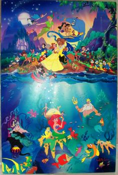 Ariel is such a loner....Up there you have Disney characters galore, but you just have The Little Mermaid's world under da sea