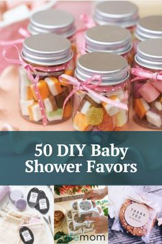 Here are some cheap DIY baby shower favor ideas that outdo store-bought ones! #pregnancy