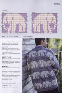 Would be good for a double sided blanket Arm Knitting, Knitting Charts, Knitting Stitches, Fair Isle Knitting Patterns, Knit Patterns, Crochet Cross, Crochet Chart, Fair Isle Chart, Elephant Tapestry