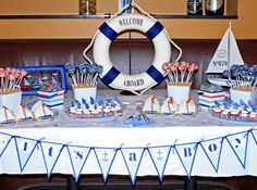 nautical Baby Shower Ideas For Boys | Nautical Baby Boy Shower | Project Nursery | Craft Ideas