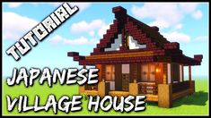 If you're building a Japanese Village, you'll need houses for the villagers. Here's a simple design for a Japanese House that looks great, but is modest enou. Minecraft Redstone House, Minecraft Japanese House, Plans Minecraft, Minecraft Houses Survival, Cute Minecraft Houses, Minecraft House Tutorials, Minecraft House Designs, Minecraft Tutorial, Minecraft Blueprints