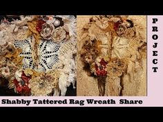 Tattered Fall Wreath for Sale, Shabby Chic vintage rag wreath, rustic, boho, by Crafty Devotion - YouTube