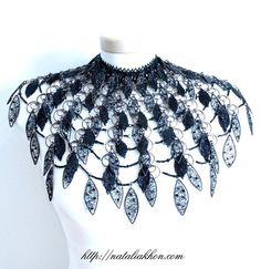 Black Swan beaded wirework metalwork. Beaded by nataliasjewellery, $8000.00
