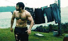 Henry Cavill as Man of Steel gif Love Henry, My Superman, Comic, Shirtless Men, Man Of Steel, Henry Cavill, Dream Guy, Hairy Men, Held