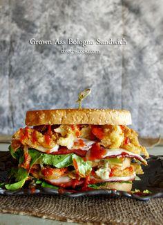 The Grown Up Bologna Sandwich | Dixie Chik Cooks
