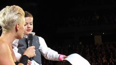P!nk - Little Boy Sings Happy Birthday On Stage