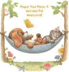 Enjoy its suppose to be nice???        We can decide on MONDAY, if it was :).                                 Good Weekend Clip Art | ... ://www.glittergraphics99.com/dog/hope-you-have-a-wonderful-weekend