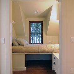 Sleeping nook in Method custom prefab home (cottage series)
