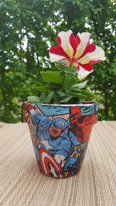 potflowerpotplantermarvel pothandmade potpot for