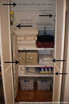 under stairs linen closet - Google Search