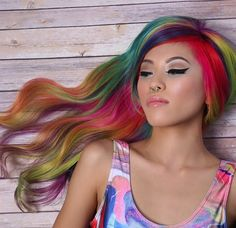 "The psychedelic ""sand art hair"" is the latest #hair trend young women have perfected. #style"