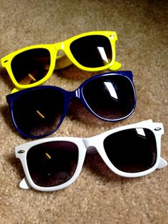 Funky colors are always fun- Sunglasses are my new obsession.