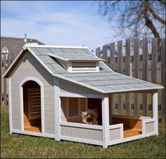 doghouse with porch