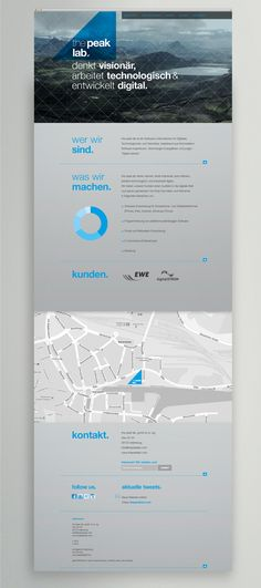 the peak lab. Corporate Identity by Katharina Mauer, via Behance