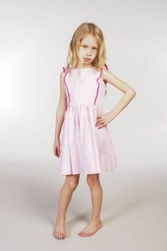 Natty | Pinafore dress in pink and magenta