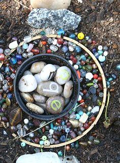 Letter Rocks in a Fairy Garden