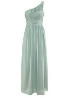 Stunning Light Green Pleated Maxi Dress for Prom