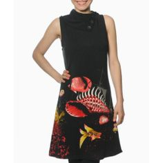 Take a look at this smash! Black & Red Graeme Dress on zulily today! Winter Colors, Winter Dresses, Cowl Neck, That Look, High Neck Dress, My Style, Coat, Shirts, Inspiration