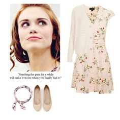 Lydia Martin valentine's day outfit with flats - tw / teen wolf by shadyannon on Polyvore featuring polyvore fashion style Topshop Express Monki clothing
