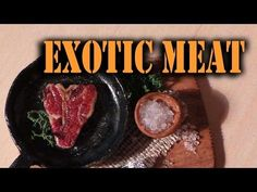 ▶ Miniature Exotic Meat Tutorial - Polymer Clay - YouTube