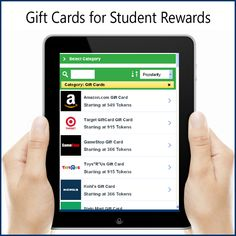 New! Add popular gift cards such as, Amazon and GameStop, to your student rewards store! Call us to learn more or to create your student store today!  TokenRewards.com 800-926-9194