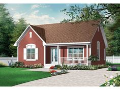 Arts and Crafts House Plan Front of Home 032D-0726  from houseplansandmore.com