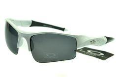 5ad9a3f504 Oakley Flak Jacket Semi-Rimless White AIM Stylish Sunglasses