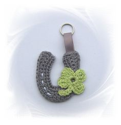 gehäkeltes Hufeisen als Anhänger, crochet horseshoe