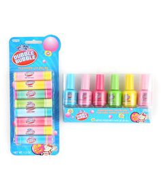 Take a look at this Dubble Bubble Lip Balm & Nail Polish Set by Almar on #zulily today!
