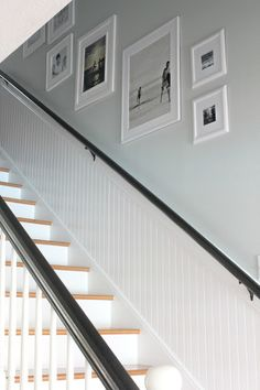Curious Details: A Bead Board Stairwell Update SW Sea Salt
