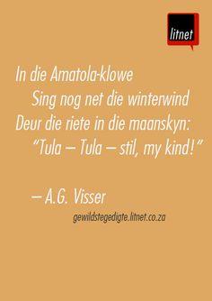 """""""Amakeia"""" - A.G. Visser #afrikaans #gedigte #segoed #quotes"""