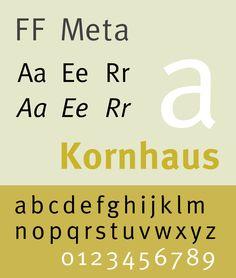 Font FF Meta Specimen Sample selection: www.rotterdam-vormgeving.nl
