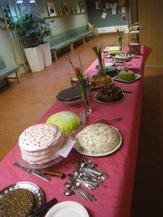 Cake buffet at church...I love my church!