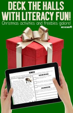 Christmas reading activities, FREE passages, a FREE word work pack, games, and a FREE Christmas word bank printable! Use the Christmas writing freebie with your word work center and during writer's workshop. Word Work Activities, Spelling Activities, Reading Activities, Christmas Writing, Christmas Words, Christmas Fun, Paragraph Writing, Persuasive Writing, Writing Rubrics