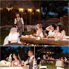 Agua Linda Farms Wedding Tucson Arizona Marie Cameron Photography reception toasts