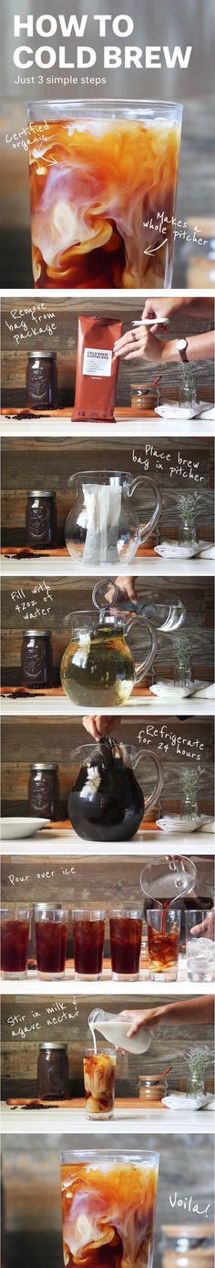 Work week, covered. How to make cold brew coffee in 3 simple steps. https://www.brandless.com/products/cold-brew-multi-serve-bag-peru-fair-trade-organic
