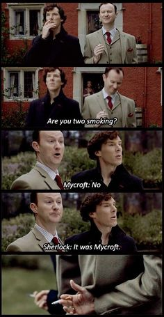 Wait is Mycroft married? I see a ring