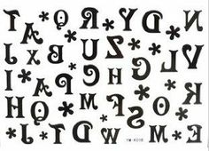 Halloween Composition of the 26 Letters of the Alphabet A-Z Temporary Tattoos 2pcs/lot by Temporary Tattoos. $2.99. 2 pieces/ lot. size:15cm x 10cm. How to use it 1.Cut out tattoo of choice and remove clear sheet 2.Place tattoo face down on skin 3.Wet the tatto thoroughly with asponge 4.After 20-30 seconds, gently remove the backing paper 5.Allow the tatto to dry  How to Remove Body Sticker Use cold cream, baby oil or the sticky side of adhesive tape.  WARNING: CHOKING HAZAR...